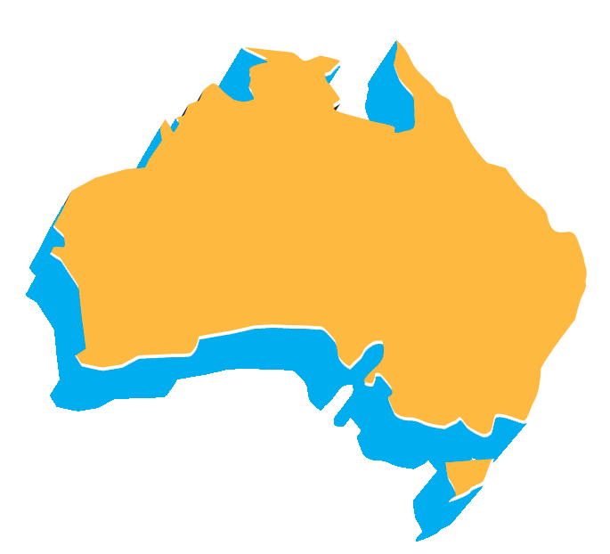 isometric map of Australia
