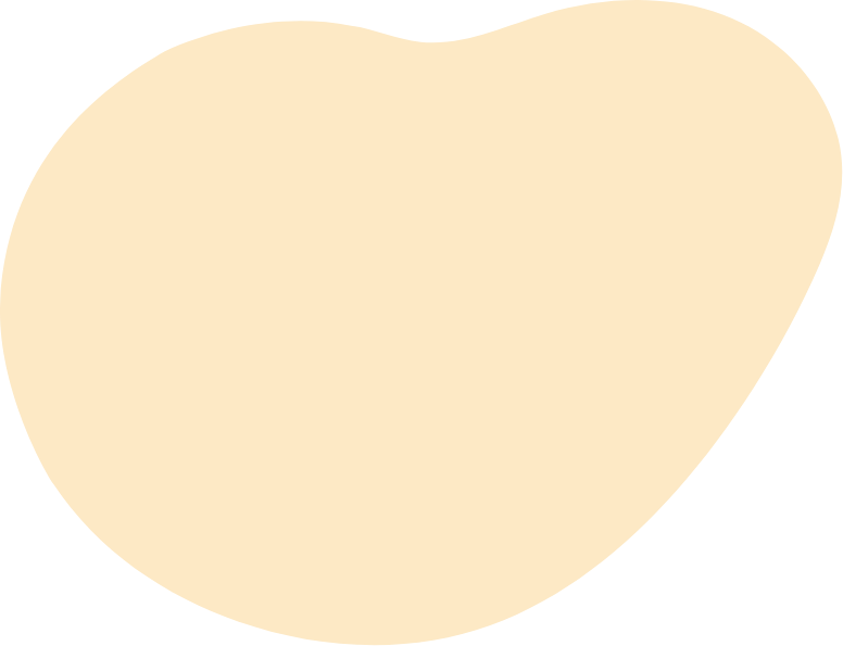 Beige blob of colour